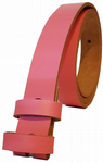 20mm Pink Snap Fit Leather Belt